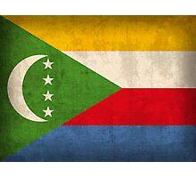 Comoros Flag Photographic Print