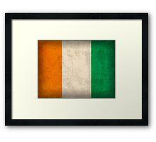 Ivory Coast Flag Framed Print
