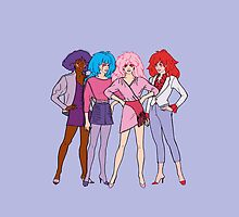 Jem and The Holograms - Group #1 Purple - Tablet & Phone Cases by DGArt