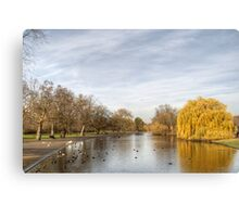 Regents Park in Central London Canvas Print