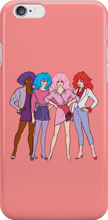 Jem and The Holograms - Group #1 Red - Tablet & Phone Cases by DGArt