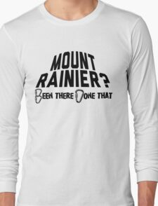 Mount Rainier Mountain Climber Long Sleeve T-Shirt