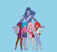 Jem and The Holograms - Group #2 Blue - Tablet & Phone Cases by DGArt