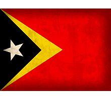 East Timor Flag Photographic Print