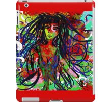 Lady of colours ipad case iPad Case/Skin