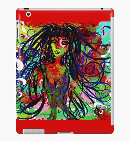 Lady of colours ipad case iPad Case/Skin