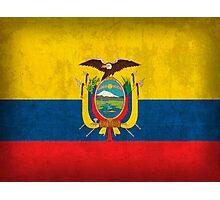 Ecuador Flag Photographic Print