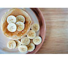 banana pancakes.. Photographic Print