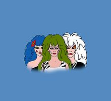 Jem and The Holograms -  The Misfits - Blue - Tablet & Phone Cases by DGArt