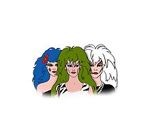 Jem and The Holograms -  The Misfits - White - Tablet & Phone Cases by DGArt