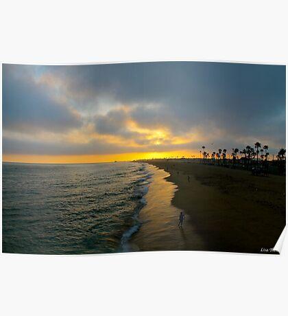 Newport Beach California Sunset Poster