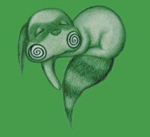 Sleepy ~ Heart ~ Nooki in green Baby Tee