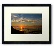 Long Island Sunset at Crab Meadow Beach Framed Print