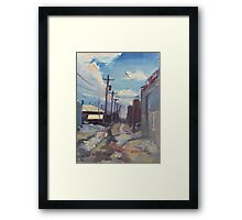 Behind the City of Craig Framed Print