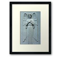 Angel Within a Wall Framed Print