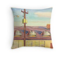 Above the Office Throw Pillow