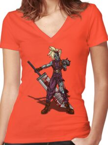 Zombie Cloud (Final Fantasy VII) Women's Fitted V-Neck T-Shirt