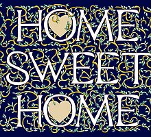 Home Sweet Home (Dark Blue) by Donna Huntriss