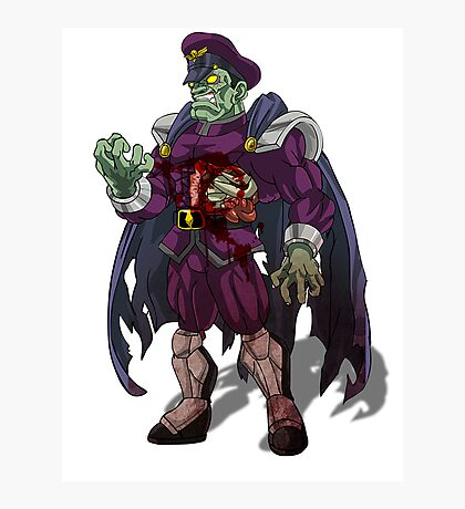 Zombie M Bison (Street Fighter) Photographic Print