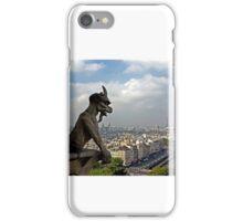 Gargoyle surveying Paris iPhone Case/Skin