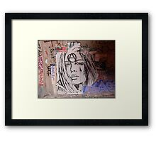 Portrait of a sad woman Framed Print