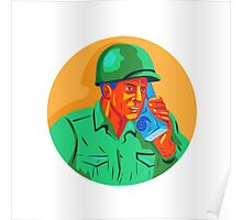 World War Two Soldier American Talk Radio WPA Poster