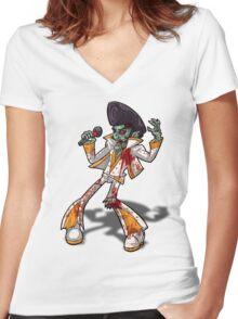 Zombie Elvis Women's Fitted V-Neck T-Shirt