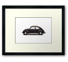 1953 Volkswagen Beetle Sedan - Black Framed Print