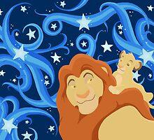 Simba and Mufasa by rachels1689