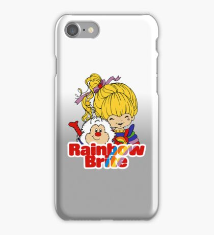 Rainbow Brite - Group - Rainbow & Twink - Large - Color iPhone Case/Skin