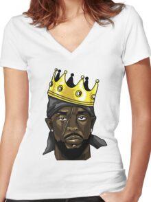 King Omar Women's Fitted V-Neck T-Shirt