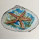 Starfish Clamshell Art by Sharon A. Henson