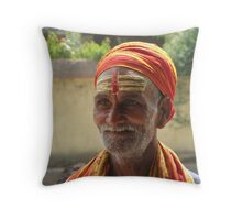 Nepalese Man Throw Pillow