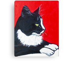 Black and White and Red All Over Canvas Print