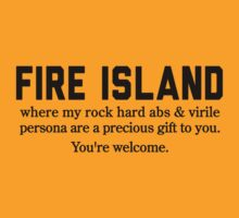 Fire Island Abs by Location Tees