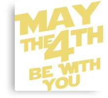 Star Wars - May the 4th Canvas Print