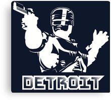 Robocop - Detroit (White) Canvas Print