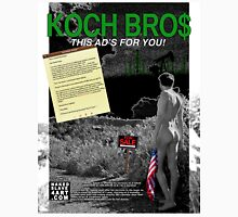 """""""Koch Bros"""" Full Page Ad for NakedSlave4Art.com Published in Artillery Magazine Unisex T-Shirt"""