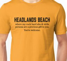 Headlands Beach Abs Unisex T-Shirt