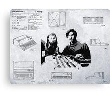APPLE COMPUTER FIRST PATENT - JOBS & WOZNIAK Canvas Print