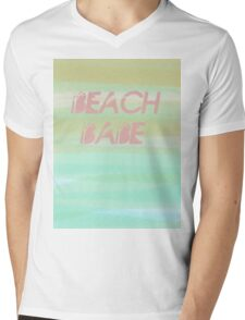 Beach Babe T-Shirt Mens V-Neck T-Shirt