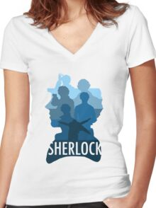 Sherlock ~  A Study to the Fall Women's Fitted V-Neck T-Shirt
