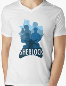 Sherlock ~  A Study to the Fall Mens V-Neck T-Shirt