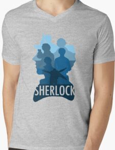 Sherlock ~  A Study to the Fall Mens V-Neck T-Shirt
