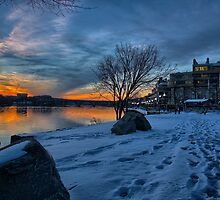 Georgetown Waterfront in Winter by mkurec