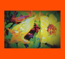 Tropical view of Allamanda flowers Kids Clothes