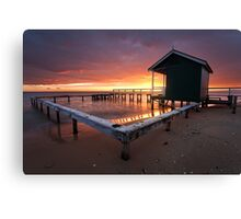 Shelly Beach Red Dawn Canvas Print