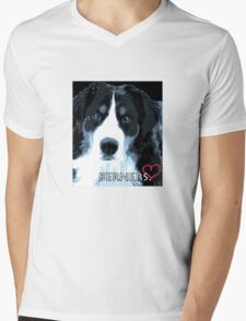 Berner love. Mens V-Neck T-Shirt