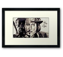 Four Faces of Johnny Depp Framed Print