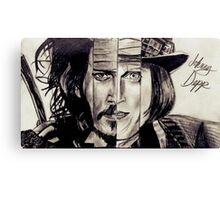 Four Faces of Johnny Depp Canvas Print